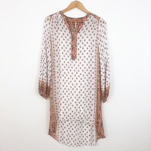 Free People Paisley Long Sleeve Button Down Dress